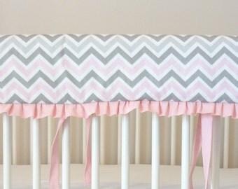 Add on ruffle for crib rail cover.