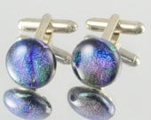 cufflinks dichroic glass purple wedding  partywear men uk