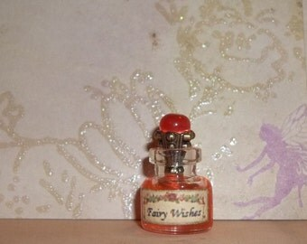 "Dollhouse Miniature Fairy  Witch  Wizard Potion Bottle  ""Fairy Wishes"""