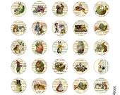easter 1 inch round images Printable Download Digital Collage Sheet 1 inch circle diy jewelry pendant greeting card egg bunny chick