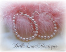 Pink Swarovski Pearl Flowergirl Bracelet - Can Be Made in Other Colors - Listing Is For One Bracelet