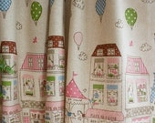 Cotton Linen Fabric Cloth -DIY Cloth Art Manual Cloth -Tower Park 43 x19 Inches