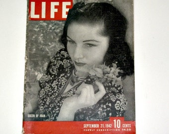 Life Magazine September 21, 1942, War Time Edition