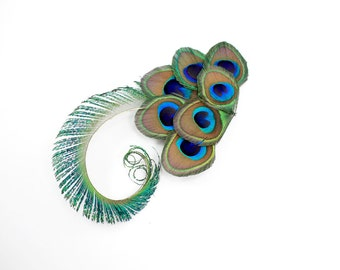 Graceful - Peacock hair accessory / Bridesmaid gift / Wedding hair clip