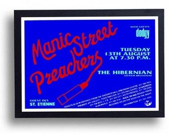 Manic Street Preachers Framed Gig Poster Print