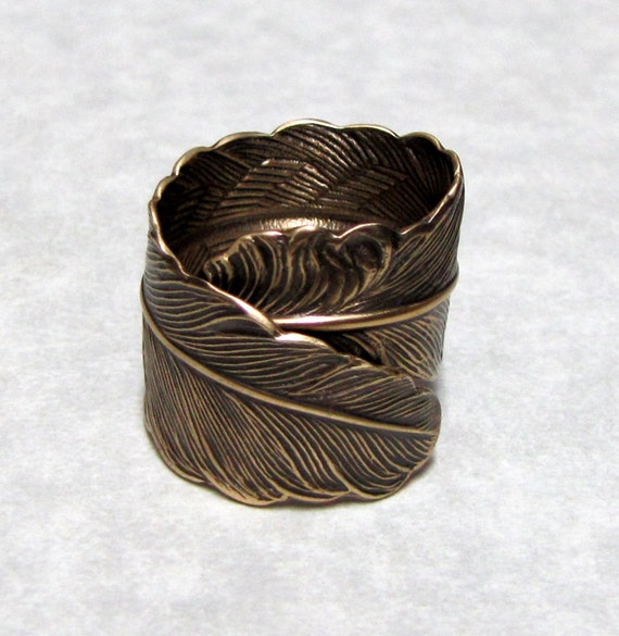 Raven Feather Ring