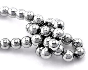 20 Hematite Gemstone Beads 12mm - BD174