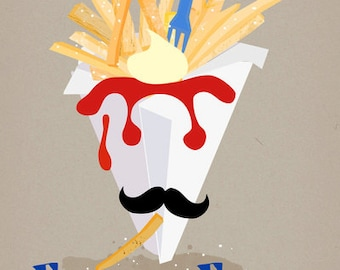French Fries-limited edition art print