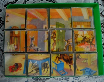German Cube Puzzle - Herbart Wertarbeit Spiele no. 12/35 in case
