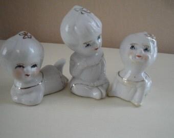 Porcelain Triplet Figurines