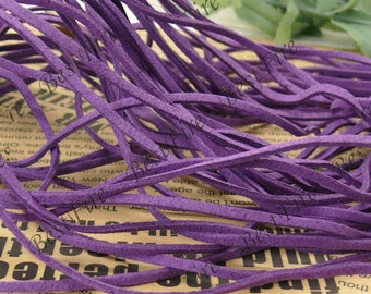 5 meters of 3mm purple violet Suede Faux Leather String,Faux Leather Suede Cord,Faux Leather straps,jewelry findings