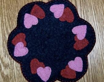 Mini Hearts Candle Mat