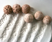 Clay Sculpture Ball, JUST ONE SMALL, Choose Your Pattern Tool for Texturing Pottery Ceramics Polyclay - GiselleNo5