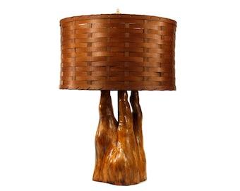 Florida Style Lamp - Cypress Knee Lamp - Mid Century Lighting - Table Lamp - Vintage - Wood