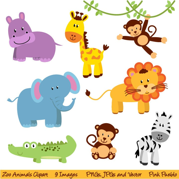 Clipart Jungle Animals Images amp Pictures Becuo