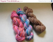 On Sale- 60% off- Mini Skein Lot 2- three 45 yard mini skeins