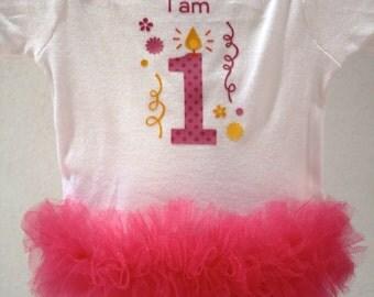 First Birthday Tutu Onesie- Size 12 months