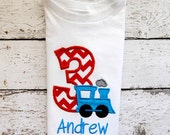 Personalized Train Birthday Shirt or body suit