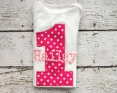 Number Personalized Birthday Shirt or Bodysuit