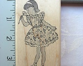 Suzanne Carillo Daisy Girl Rubber Stamp NEW, Stampers Anonymous