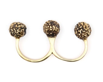 Three Finger Ring - Brass Knuckle Duster - Brass Knuckles - Knuckle Duster