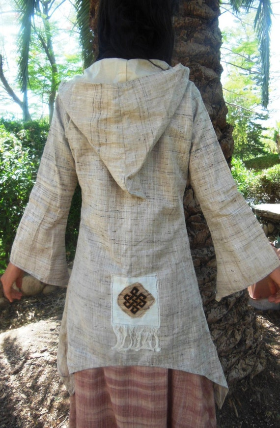 Reversible raw silk Jacket