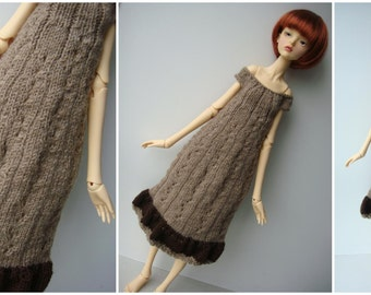 SALE - Doll-Chateau YOUTH: Knitted Off-Shoulder Midi Dress