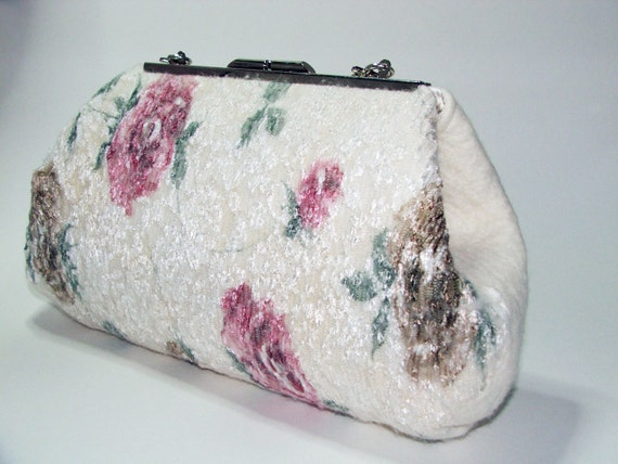 Items similar to Wedding roses clutch , Purse bag for ...