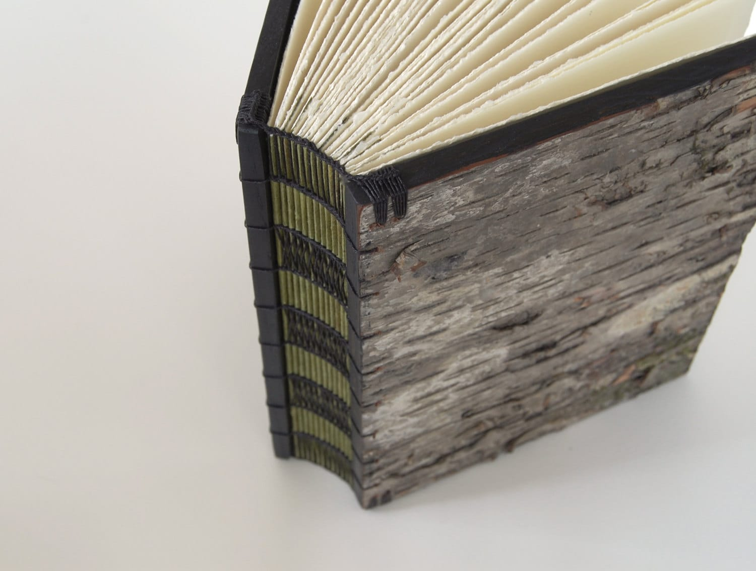 Very Impressive portraiture of handmade tree bark journal unique wood book by ThreeTreesBindery with #7F724C color and 1500x1134 pixels