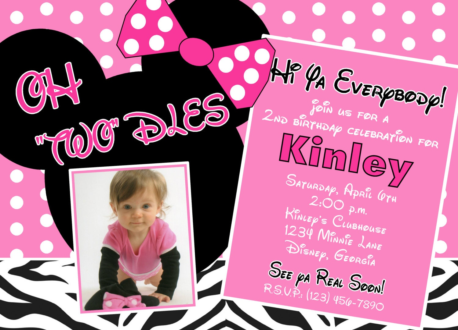 Customized Minnie Mouse Invitations with good invitations layout