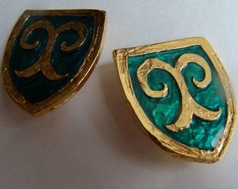 Yves Saint Laurent Green Resin Earrings