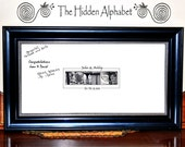 Wedding GUEST BOOK Alphabet Photography Art  Personalized Name Print 12x24  Signature NAME Frame