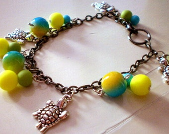 turtle charm anklet / bracelet /summer/free shipping