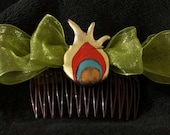 SALE - Peacock Princess Hair Comb