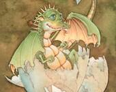 Duncan Baby Dragon Hatchling 8x11 Signed Print