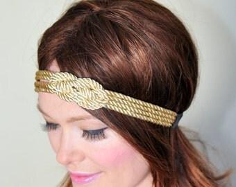 Gossip Girl Blair Waldorf Nautical Knot Headband Preppy Headband Knot Headwrap Women Fashion Girly Romantic Mothers Day gift under 25