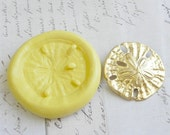 SAND DOLLAR (large) - Flexible Silicone Mold - Push Mold, Polymer Clay Mold, Resin Mold, Pmc Mold, Supplies, Crafting Mold