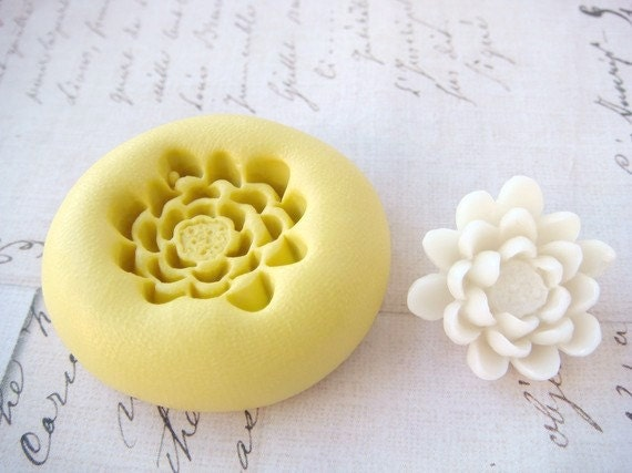Pond Lily Lotus Flower Flexible Silicone Mold Push Mold
