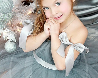 Modern Christmas Tutu Dress by Atutudes