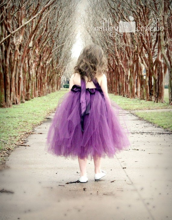 Atutudes Pretty Plum Tutu Dress flower girl dress eggplant tutu dress