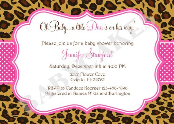 Animal print invitaciónes para baby shower - Imagui