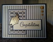 Glittery Gold Graduation Card and Envelope Set