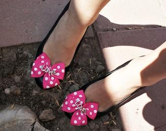 Olivia Paige -Rockabilly pin up Polka dot Shoe Clips LOVE