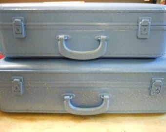 Suitcases SALE in 2 sizes painted in your colors Listing is for the 2 cases pictured here