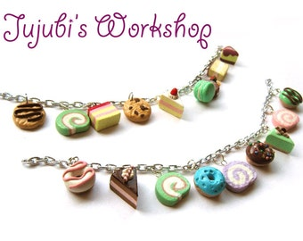 Yummy Dessert Polymer Clay Charms Bracelet