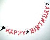 NINJA Happy Birthday.  Martial Arts Birthday.  Asian Theme.  5280 Bliss.