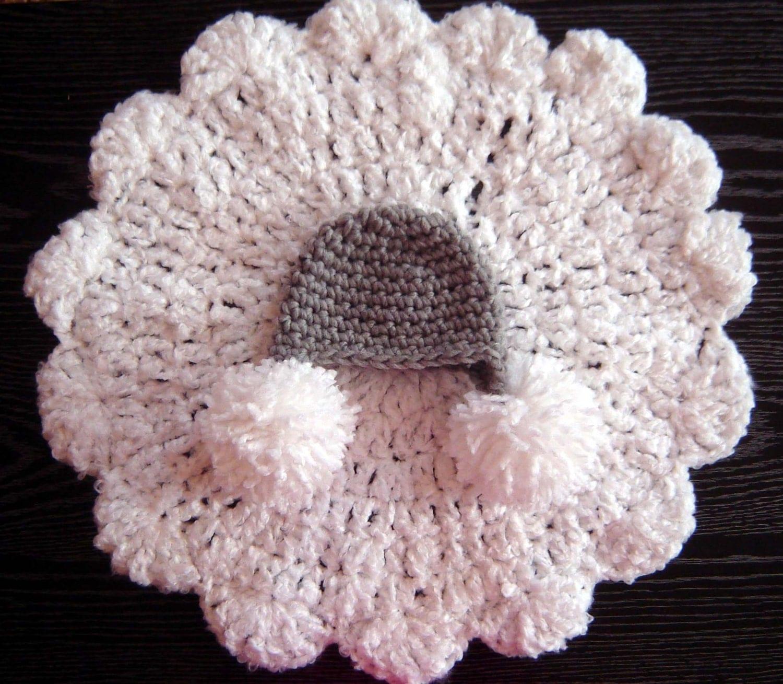 Pdf instant download crochet pattern no 271 round blanket and pom pdf instant download crochet pattern no 271 round blanket and pom hat set photo prop sizes preemie newborn 0 3 3 6 months bankloansurffo Images