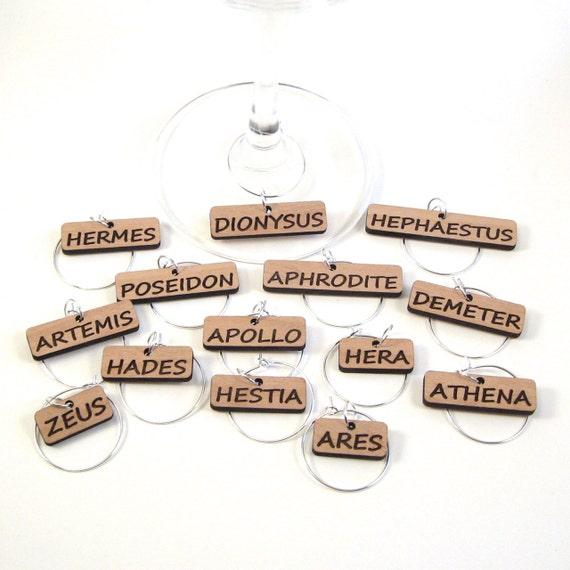 Greek Gods Wine Glass Charms - Greek Gods
