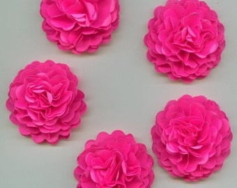 Bright Hot Pink Mini Carnation Paper Flowers