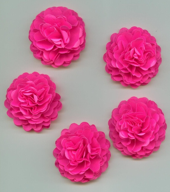 Bright Hot Pink Mini Carnation Paper Flowers From